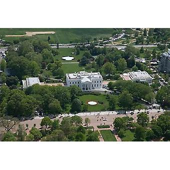 Aerial view of the White House Washington DC Poster Print by Carol Highsmith