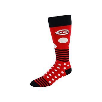 Cincinnati Reds MLB Dots & Stripes Socks