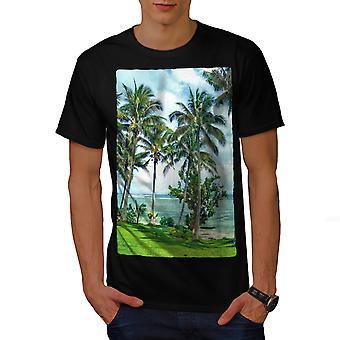 Landscape Novelty Nature Men BlackT-shirt | Wellcoda