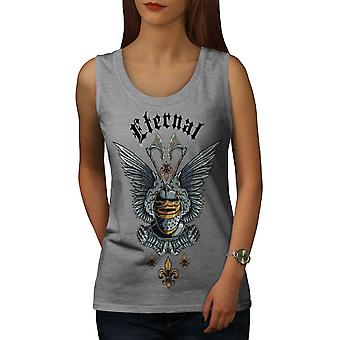 Eternal Knight Fantasy Women GreyTank Top | Wellcoda