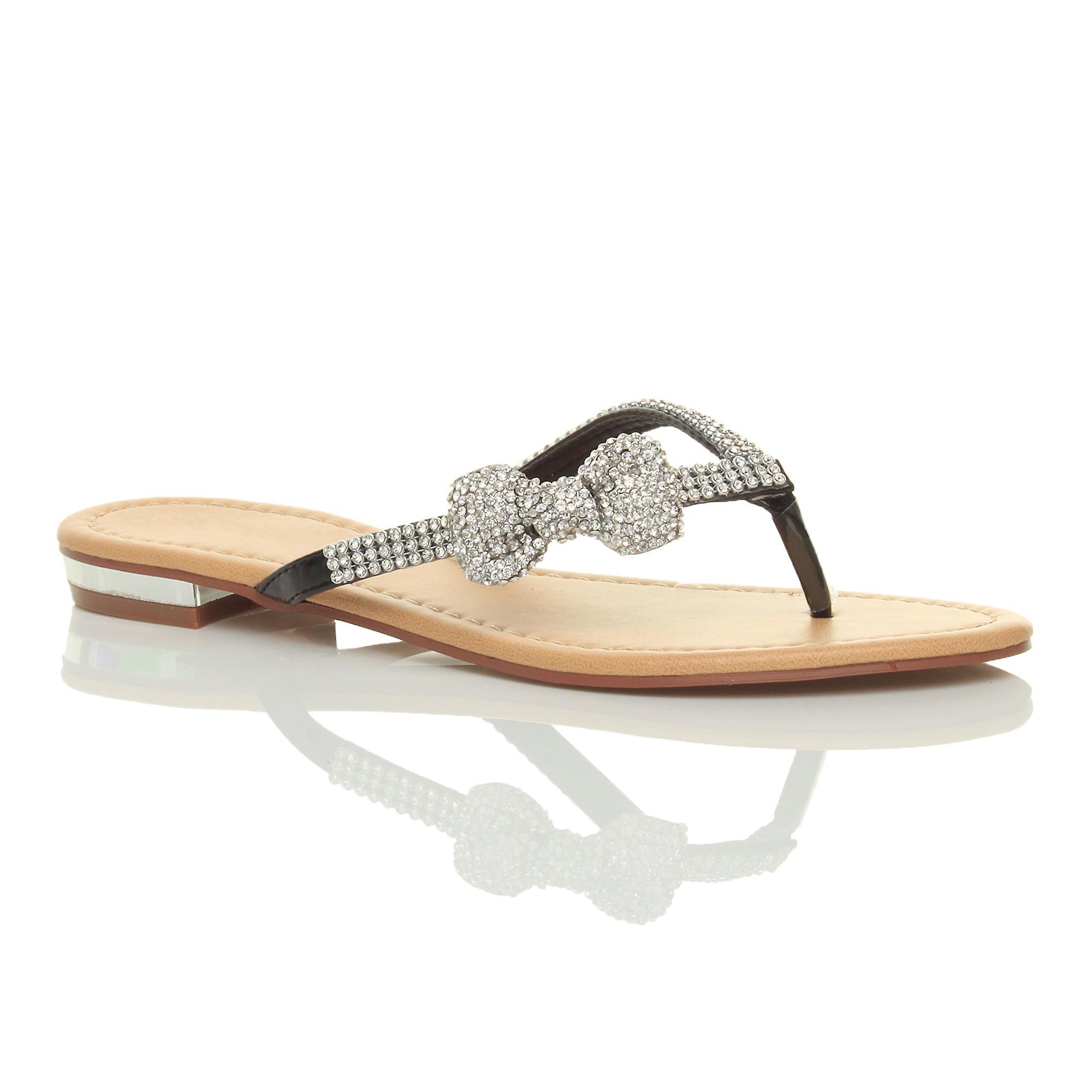 Ajvani womens low heel flat beach