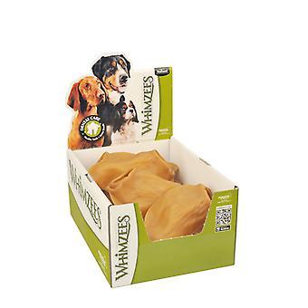 Innfall naturlige tannpinner tygge hund godbiter, veggie øre - boks med 18