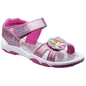 Leomil meisjes Skye Glitter Verstelbare gewatteerde lichtgewicht sandalen