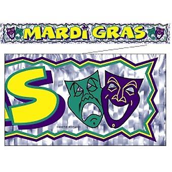 Mardi Gras Banner metallische Fringe
