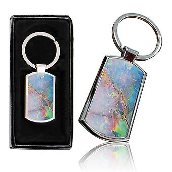 i-Tronixs - Premium Marble Design Chrome Metal Keyring with Free Gift Box (3-Pack) - 0035