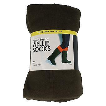 Ladies Spot On Fleece Lined Wellie Socks SK205/SK206