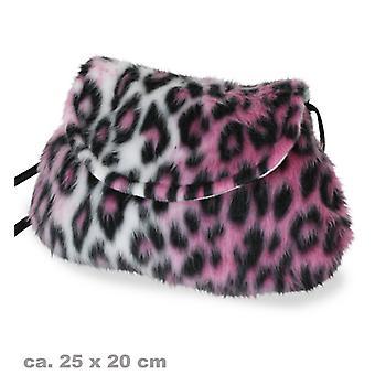 Tasche Plüsch Accessoire Plüschtasche Leopard Pink
