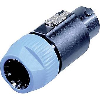 Jack Neutrik NL8FC Audio Plug, reta número de pinos: computador (es) 1 azul preto, 8