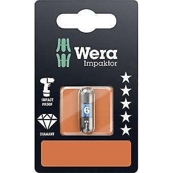 840/1 IMP DC impaktor BITS SB SiS Wera hex bit 6 mm verktygsstål legerat, DLC belagda D 6,3 1 st (s)