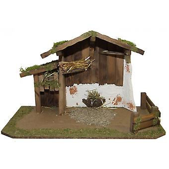Crib Nativity scene wood Nativity stable DAVID hand work for characters up to 13 cm