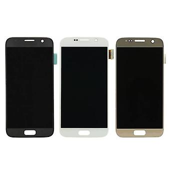 Stuff certificeret® Samsung Galaxy S7 screen (AMOLED + berøringsskærm + dele) A + kvalitet-sort/hvid/guld