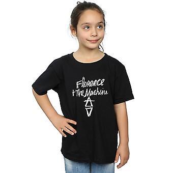 فلورنسا وآلة الفتيات مرسومة باليد شعار تي شيرت