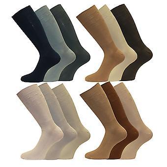 Mens diabetiker vennlig ekstra romslig toppen bredt foten kort midten av kalv sokker 3-par-Pk