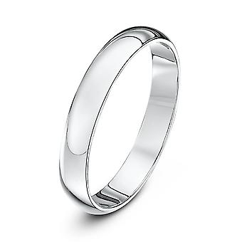 Star Wedding Rings 9ct White Gold Extra Heavy D Shape 3mm Wedding Ring