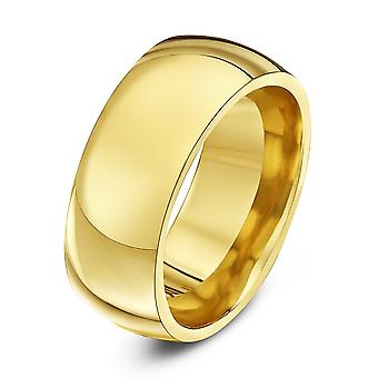Star Wedding Rings 9ct Yellow Gold Heavy Court Shape 9mm Wedding Ring