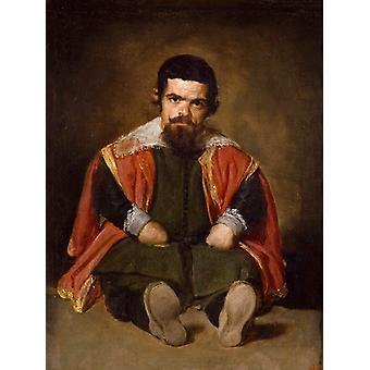 A Dwarf Sitting on the Floor,Diego Velazquez,50x40cm