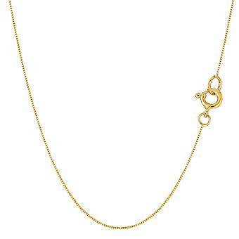 14 k żółty złoto lustro Classic Box naszyjnik łańcuch, 0,45 mm
