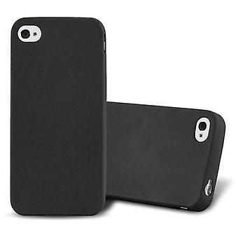 Cadorabo Case för Apple iPhone 4/iPhone 4S fodral Cover-telefon fodral av flexibel TPU Silikon-silikonfodral skyddsfodral Ultra Slim Soft Back Cover fodral stötfångare