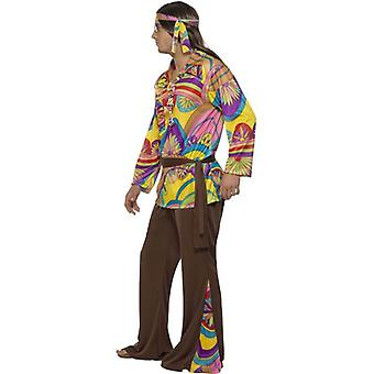 Psychedelic Hippie Man Costume, Chest 46