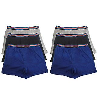 Boys Tom Franks Kids Cotton Rich Boxer Trunk underwear Six Pack