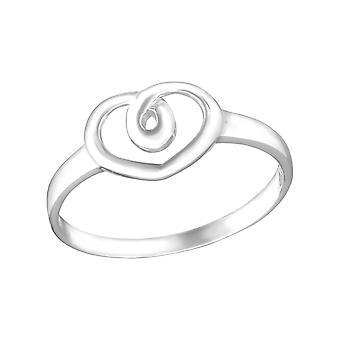 Herz-twirl - 925 Sterlingsilber Plain Ringe - W15381X
