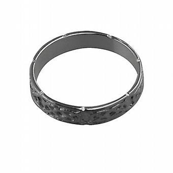 Platinum 4mm Celtic Wedding Ring Size Z