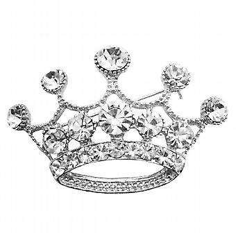 Glamouröse Krone Brosche voll Diamante Krone Brosche