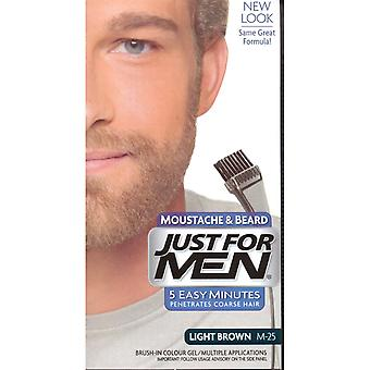 Just For Men Moustache & Beard Brush-In Colour Gel -Light Brown M25