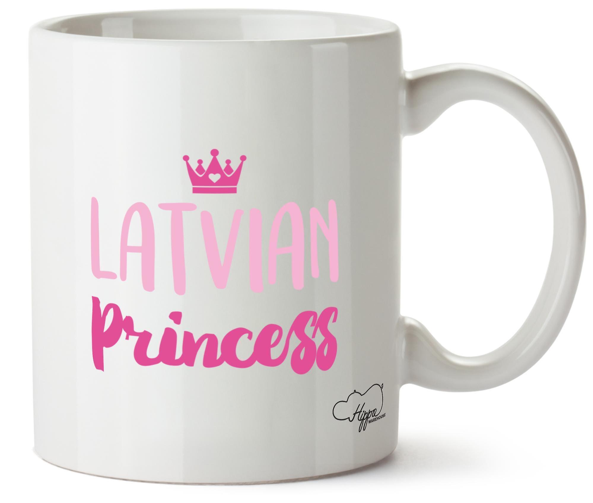 Hippowarehouse Latvian Princess 10oz Mug Cup