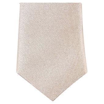Knightsbridge Neckwear Skinny Tie Polyester - crème