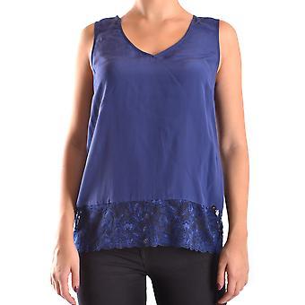 Liu Jo Ezbc086037 Dames's Blue Silk Top