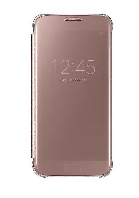 New Genuine Samsung Clear View Book Flip Cover Case (EF-ZG930CZEGWW) for Samsung Galaxy S7  - Pink Rose Gold