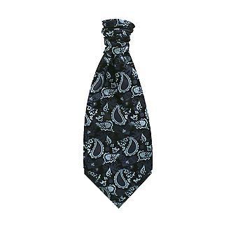 Dobell jungen dunkelblau Paisley Krawatte Seide Pre gebunden