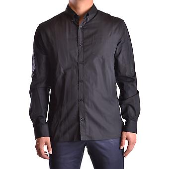 John Galliano Ezbc164045 Men's Black Cotton Shirt