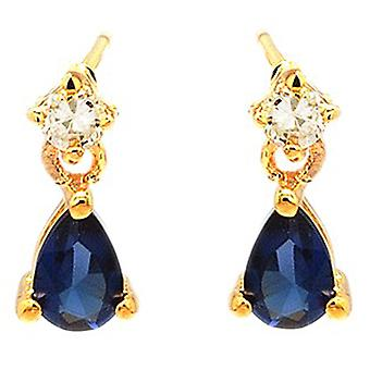 Ah! Jewellery Womens Sapphire Pear Crystals From Swarovski Earrings
