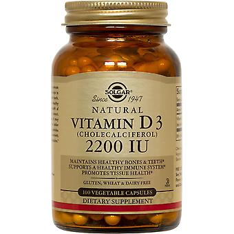 Solgar Vitamin D3 (Cholecalciferol) 2200 IU Vegetable Capsules 100ct