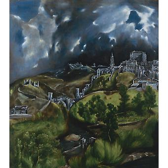 View of Toledo, El Greco, 50x44cm