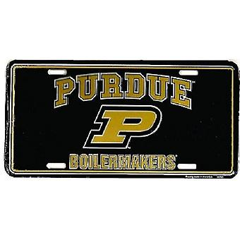 Plaque d'immatriculation de Purdue Boilermakers NCAA