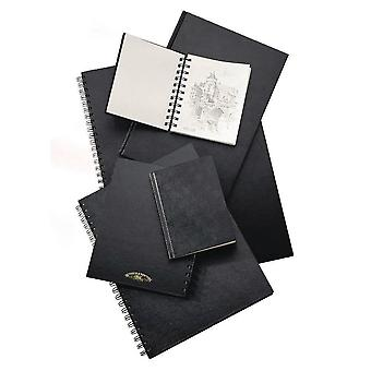 Winsor & Newton Hardback Sketch Book Spiral Bound Heavy Weight 170gsm A5