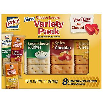 Lance Cheese Lovers Variety Pack Sandwich Cracker