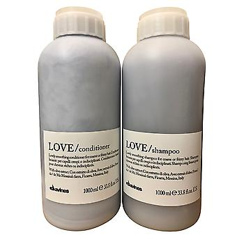 Davines Love Lovely Smoothing Shampoo & Conditioner Set Frizzy Hair 33.8 OZ
