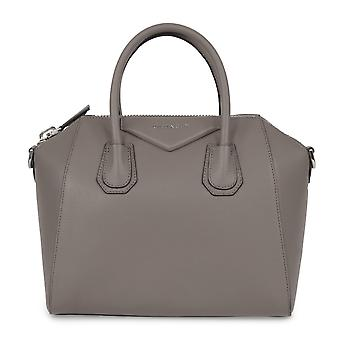Givenchy Antigona Sugar Goatskin Leather Satchel Bag | Stone gray with Silver Hardware | Small