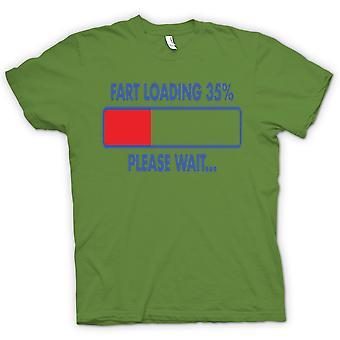 Mens T-shirt - Fart Laddar 35%, Vänta - Citat