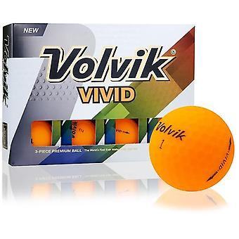 Volvik Vivid Golf Balls Sherbet Orange 1 Dozen