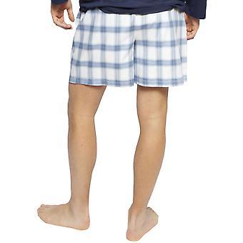 Kyberjamie 6425 muži ' s Harper Blue mix kontrola bavlna pyjama krátká