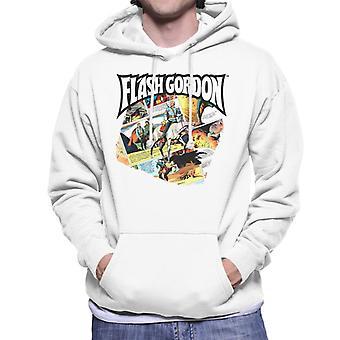 Flash Gordon Gryph Riding Montage Men's Hooded Sweatshirt