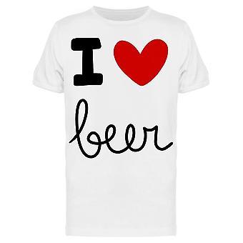 I Love Beer Graphic Tee Men's -Image by Shutterstock