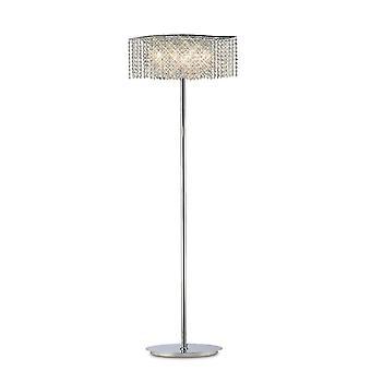 Diyas Fabio vloer lamp 4 licht gepolijst chroom/kristal
