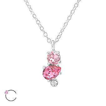 Cristal géométrique de Swarovski® - 925 Sterling Silver Necklaces - W38436X