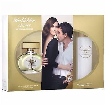 Antonio Banderas Her Golden Secret Gift Set 50ml EDT + 50ml Body Lotion